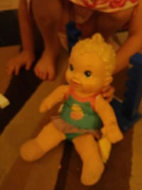 pink and green dressed female doll London, Ontario, N6G 3W2