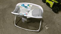 baby's gray and white bouncer Laurel, 20724