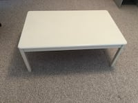 White wooden coffee table. It's almost 47 inch long , 29 inch wide and 18 inch hight Coquitlam, V3E 3B6