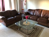 brown leather 3-seat sofa Rockville, 20852