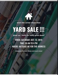 Yard Sale  Baltimore, 21218