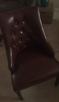 black leather padded rolling chair San Diego, 92037