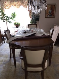 Rectangular brown wooden table and chairs dining set Toronto, M6H 4B9
