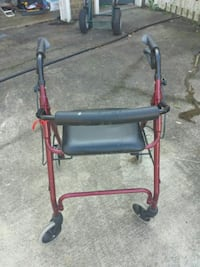 red and black rollator walker Suffolk, 23434