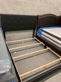 Brand new queen black faux leather bed frame with adjustable headboard 多伦多, M1P 5E6