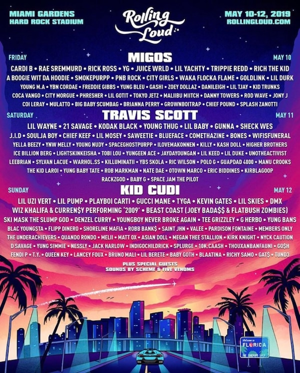 Tickets for Rolling Loud 2019
