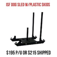 Dog Sled BRAND NEW w/plastic skids Bellmawr