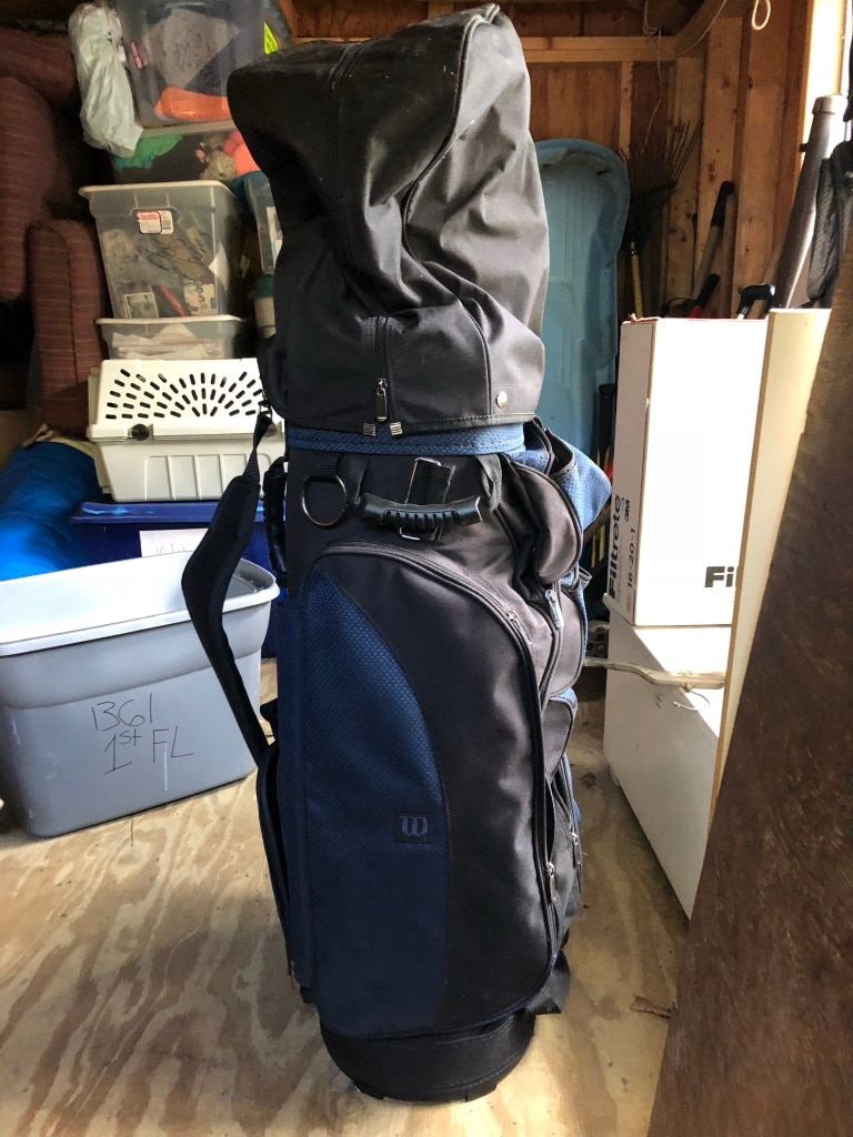 Photo Golf bag and clubs. See pics, some new some used. New haven..