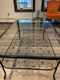 Black coffee table and side table Pomona, 10970