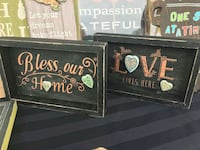 """10x6"""" table sign decor set of 2 Barrie, L4N 3E7"""