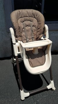 Baby's gray and white high chair
