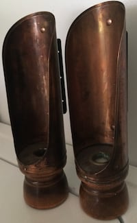 Vintage Copper/Wood Scoop Candle Sticks Hagerstown, 21742