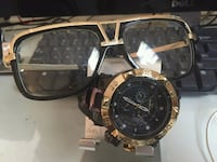 Gold style Tecno  Watch Matching Frames New 60$ Woodbridge Township, 07067