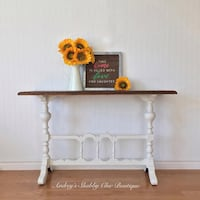 Farmhouse Entryway/Console/Sofa Table or Coffee Station Richmond Hill