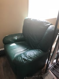 Custom Italian leather emerald green leather sofa chair Alexandria, 22310