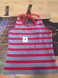 white and red stripe tank top Quebec City, G1S 1T5