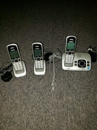 three black and gray Vtech wireless home phones Vaughan, L4L 3P5