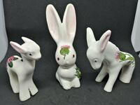 Vintage Signed PLICHTA London England Rabbit Bunny and Lamb and Donkey Whitchurch-Stouffville