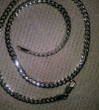 925 Stamped Chain Link Necklace 2345 mi