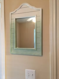Shabby chic style mirror. It can be used as a frame or as something else. It's 100% wood. It is very heavy and sturdy. San Antonio, 78250