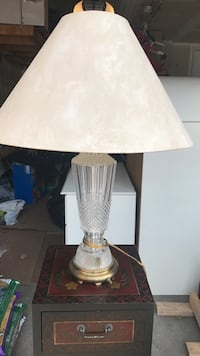 beige empire lampshade table lamp Markham, L6B