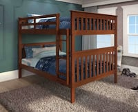 NEW in BOX! FULL over FULL Handsome wood bunk bed