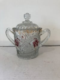 Antique glass sugar bowl with lid Newmarket, L4G 7G2