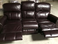 black leather 2-seat recliner Modesto, 95355