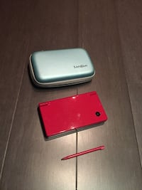 Red Nintendo DSi and R4 card for many games