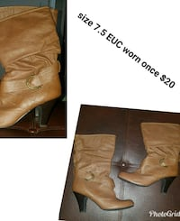 Size 7.5 EUC boots Brentwood, 94513