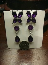 Purple Butterfly Earrings Houston, 77089
