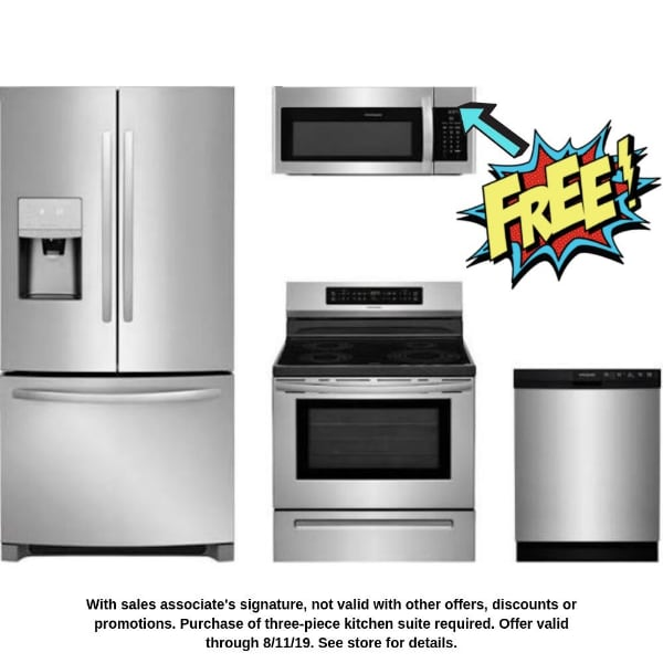 Free microwave with 3-piece Kitchen Suite