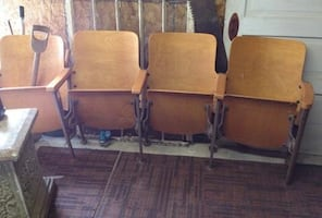 Wooden theater folding chairs1940's