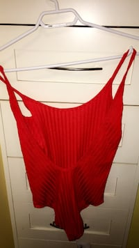 Red low back bodysuit Zara Sherwood Park