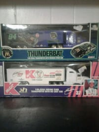two assorted die-cast car toys