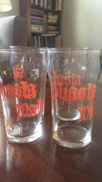 vintage  shasta water glasses  (4) Washington, 20002