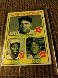 All time homerun leaders card Indianapolis, 46241