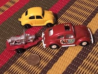 Two vintage Tootsietoys VW Beetle toy cars  551 km