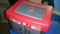 red and gray plastic box
