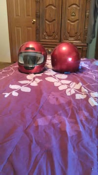 Two motorcycle or fourwheeler helments $60.00 obo
