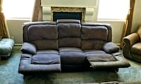 RC willey microfiber like new reclining sofa and loveseat Las Vegas, 89141