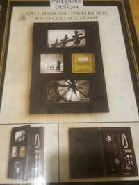Wall hanging jewlerry box with collage frame combo 533 km