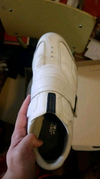 Lacoste white shoes