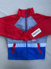 NWT Vintage Reebok Windbreaker/Jacket L Washington, 20018