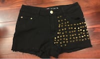 Studded Black Shorts Montreal