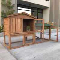 New in box 58 inches large wooden rabbit hutch chicken coop playpen pet cage  South El Monte, 91733