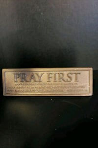 Pray First plaque Woodbridge, 22192