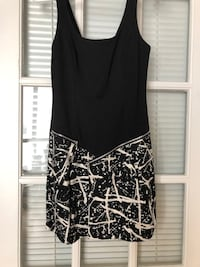 Black and white dress with zippers