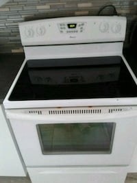 white and black induction range oven Gatineau, J8P 1B3
