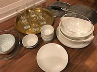 White ceramic plates and 6cups a lot of kitchen stuff Toronto, M4P 0B2